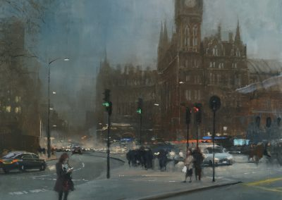 cityscape of london euston road by michael alford