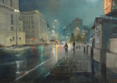 London painting by michael alford on Blackfriars bridge