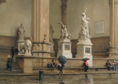 painting of piazza della signoria florence by michael alford
