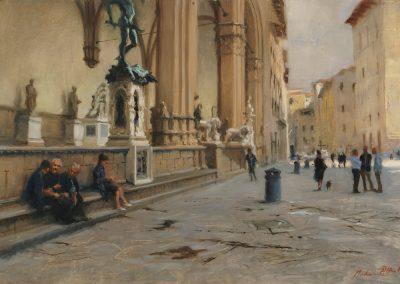 Piazza della Signoria After Rain florence by Michael Alford