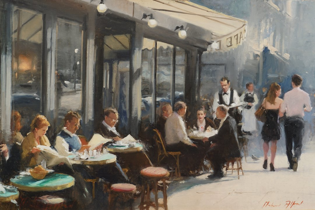 second cup painting of london by michael alford