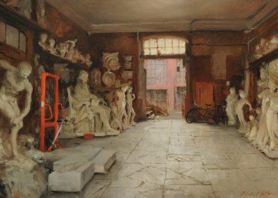 Stonemasons Workshop, Pietrasanta by Michael Alford