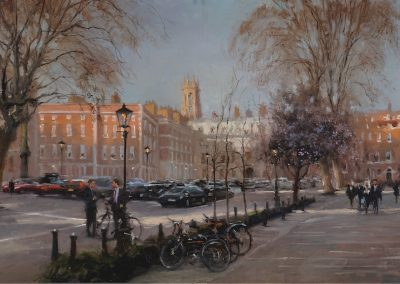 Temple, Early Spring London scene by Michael alford