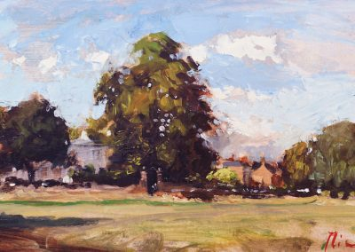West side wimbledon common oil sketch by michael alford